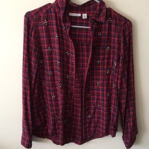 Limited Edition Nordstrom Halogen plaid shirt